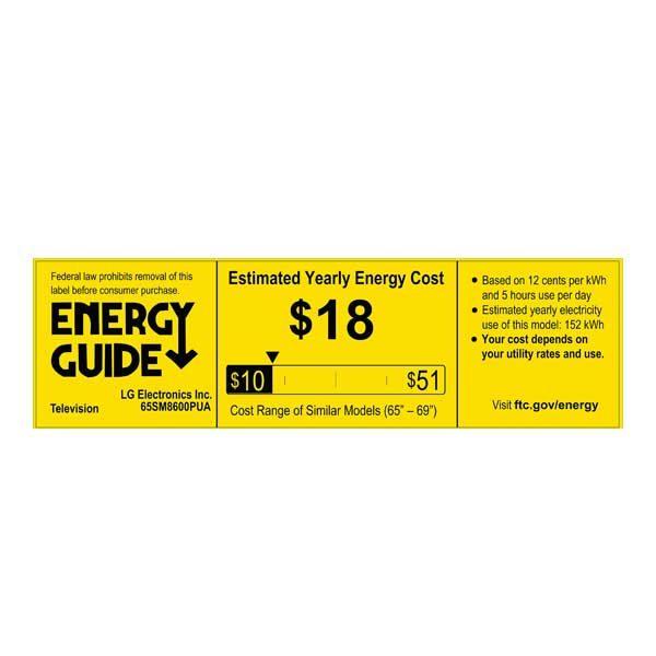 LG 65SM8600PUA - Energy Guide